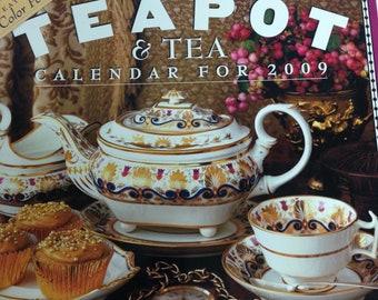 Tea Calendar, Wall Calendar, Teapot & Tea Calendar, 2009