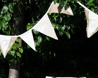 Hessian and linen bunting