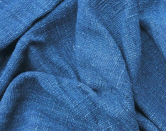 hand woven natural indigo dyed cotton fabric by the meter (HTH8)