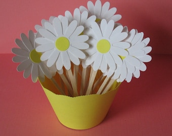 Daisy Cupcake Toppers (12CT)