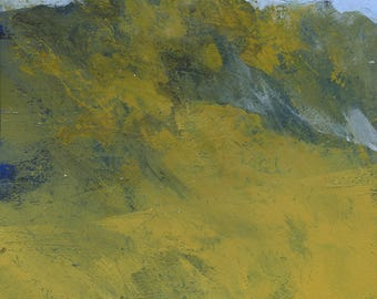 Original abstract landscape painting - Rough hill