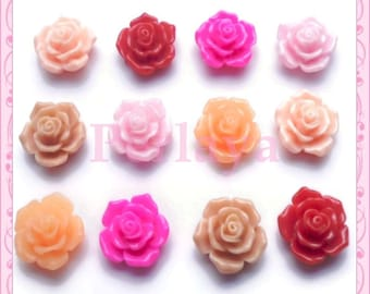 Mix of 12 flower 16mm REF855 cabochons