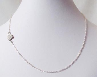 sideway necklace silver, sideways necklace, rose necklace, minimalist necklace, dainty necklace, minimal necklace, available in Gold