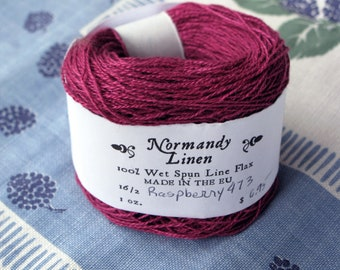 16/2 Raspberry Normandy Linen