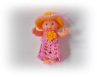 Mini Baby Doll Clothes Crochet Baby Doll Clothing Crochet Baby Doll Clothes Set Crochet Baby Doll home decor