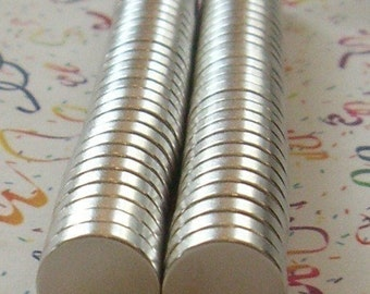 """100 Pack 1/2"""" x 1/8"""" Super Strong Neodymium Rare Earth Magnets  (13-08-119)"""