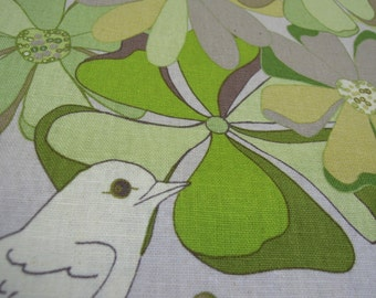 Fabric by the Yard - Valori Wells, Birds, Green, Woodland, Large Floral Print, Sewing, Quilting, Crafts