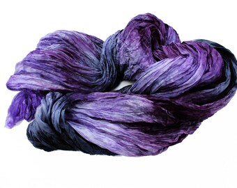 silk scarf - Magic Queen -  lavender, purple, lilac grey,dark grey, black  scarf.