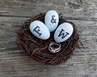 Spring Wedding Decor-Nature Wedding- Outdoor Wedding Decor-Ring Bearer Alternative- Robin Egg Nest- Wedding Nest