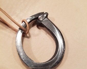 Rustic Hand Forged Nail Pendant