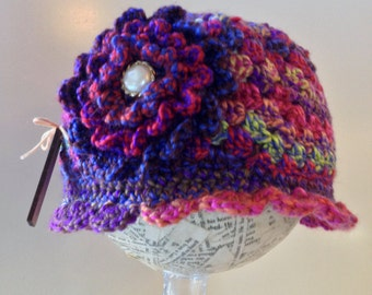 beanie, cloche, flower hat, winter cap