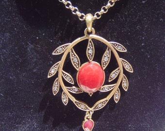 Vintage Turkish, Costume Pendant Necklace, Shipped Free