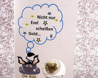 "Shit The glitter-the original sparkle pills-greeting card ""not only donkeys..."" With 5 glitter pills"