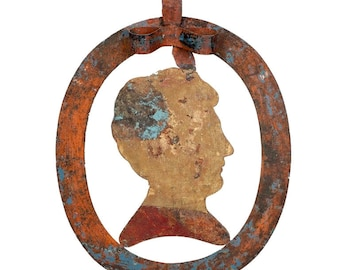 19th Century Tole and Iron Silhouette Store Sign [2888]