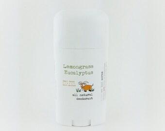 Lemongrass Eucalyptus All Natural Deodorant