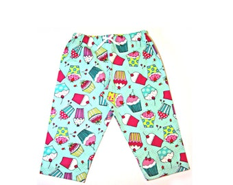 Cotton cupcake pajama pants