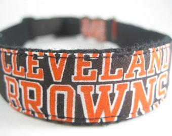 Cleveland Browns hemp dog collar or leash