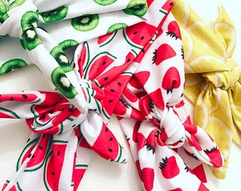 Fruit print infant/toddler headband headwrap ONESIZE