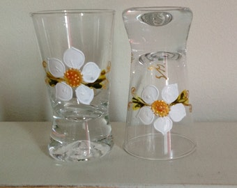 A palette  of lovely shot glasses! More designs available. Drop me a line if interested ;)