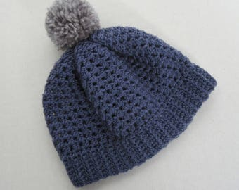 """18"""" Doll Blue Pom Pom Toque - 18 Inch Doll Clothes - Fits Like American Girl ® Doll Clothes"""