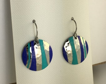 Turquoise Cobalt Blue Patina Earring