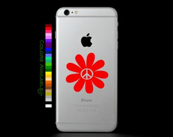Peace Flower Phone Decal