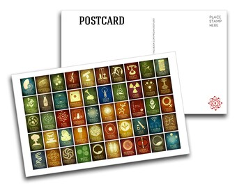 Postcard of 50 Scientists - 5 Extra Large Rock Star Scientist Cards, 5x8 Oversized Postcards, Nerdy Geeky Stationary, Science Gift