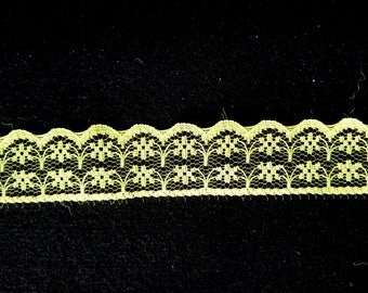 5 meters lace 20-22 mm bright yellow