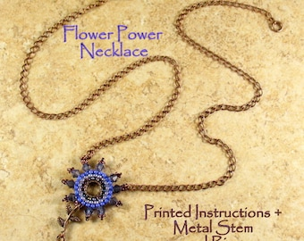 Tutorial and Stem and Ring - Flower Power Necklace
