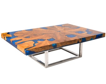 Teak Root and Resin Coffee Table CR-2040