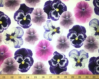 Purple Pansy Floral ...