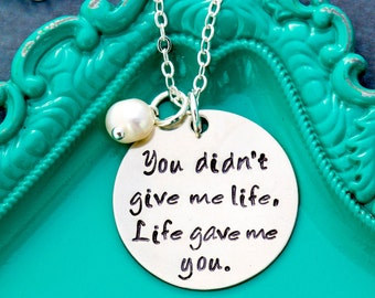 Stepmom Gift Stepmother Necklace Mother Daughter Gift • Adoption Stepmother Quote Necklace • Step Parent Gift Necklace Stepmom