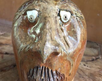 Wood fired face jug