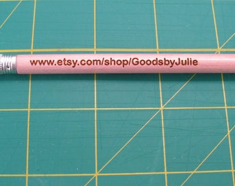 Personalized custom laser engraved pencils set of 12 - Free Standard Shipping