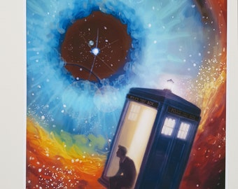 Doctor Who and the TARDIS A4 poster.