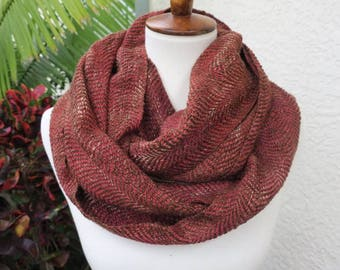 Rusty Red Loop Cowl