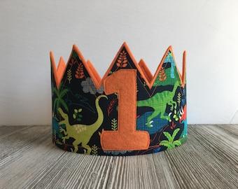 Dinosuar Crown, Birthday Crowns Boy, Dinosaur Birthday Party Dinosaur Party Accessory, Smash Cake Crown, Dinosaur Party Hat, Boys Party Hats