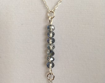 Lariat Necklace. 18 inch chain