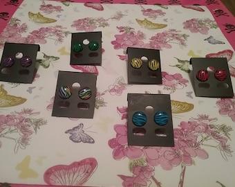 Fun Zebra print Earrings