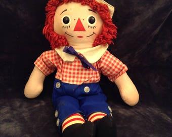 Vintage Raggedy Andy 14 inch Knickerbocker Doll