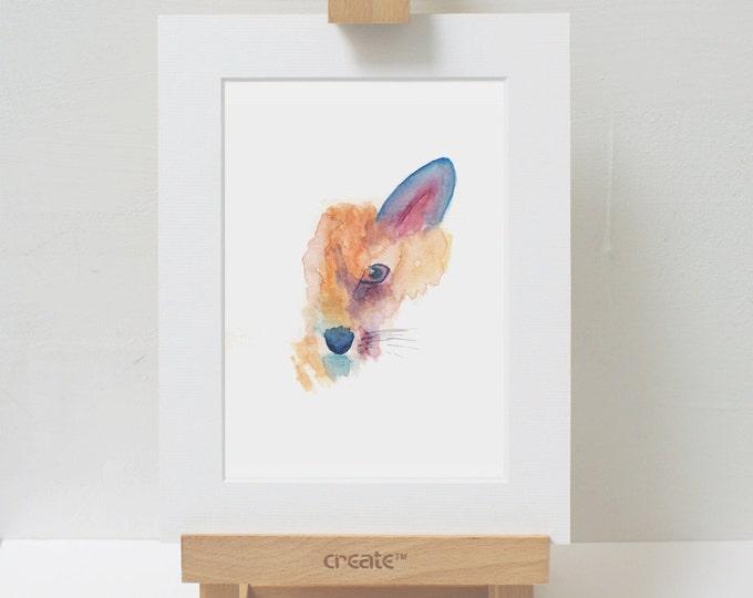 Featured listing image: Watercolour Art Print Fox Ireland