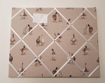Memo board  - 40 x 50 cm / notice board / fabric memo board