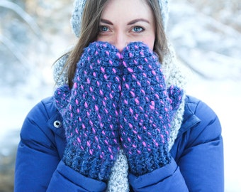 Crochet Mittens PATTERN With Video Tutorial: Thrummed Mittens, Thrummed Mitten Pattern, Mitten Pattern, Crochet Mittens, Thrumming, WeeYarn