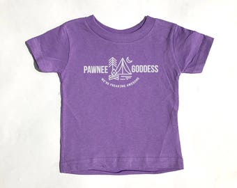 Parks And Recreation - Pawnee Goddess shirt for toddlers and kids