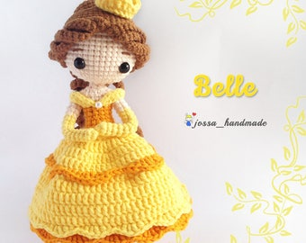 Crochet Doll Pattern / Amigurumi Doll Pattern / Princess Belle Inspired Crochet Doll Pattern / PDF Crochet Doll Pattern / Instant Download
