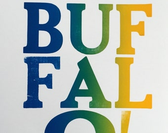Buffalo! Rainbow Roll Print