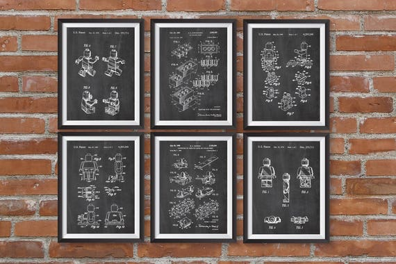 Lego Patent Posters Lego Toys Lego Poster Lego Kids Room