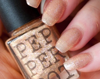 Rose Gold 5 Free Nail Polish Handmade Indie Makeup Bath Beauty Gift Under 20 Gift For Her Pepper Pot Polish