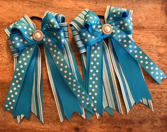 equestrian hair Bows  a pair (2) sold together