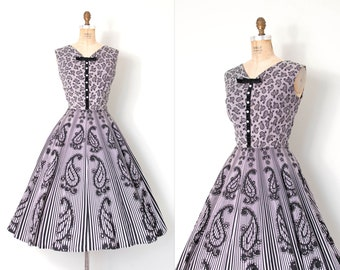 SOLD on LAYAWAY.....vintage 1950s dress | 50s black and white print dress  (large l)